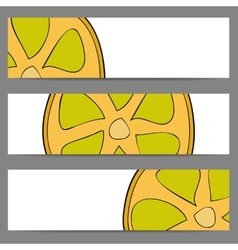 Set of banners with doodle lemon vector image vector image