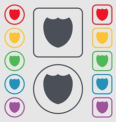 Shield sign icon protection symbol symbols on the vector