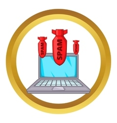 Spam bombs icon vector