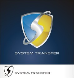 system transfer logo vector image vector image