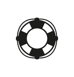 The lifebuoy icon Lifebelt symbol Flat vector image