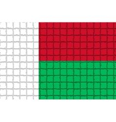The mosaic flag of madagascar vector