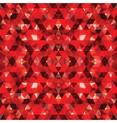 Triangular mosaic red background vector
