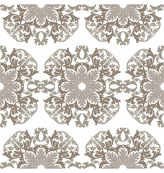 Vintage round baroque ornament pattern vector