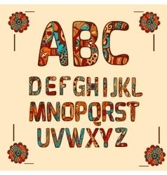 Zentangle Alphabet Colored vector image vector image