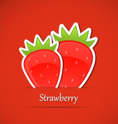 Berry label Strawberry vector image