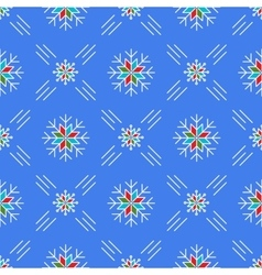 Christmas seamless pattern snowflakes blue vector