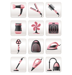 Cosmetic cleaning and heating appliances vector image