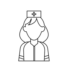 Woman paramedic help urgency wearing uniform vector