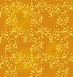 Seamless background of gold leaf vector
