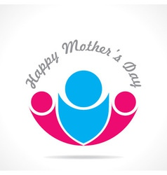 Happy mothers day card with kids icon vector