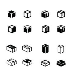 Box icons set vector
