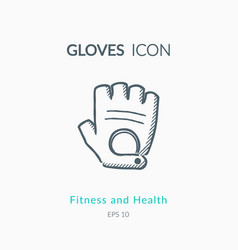 sport gloves icon on white background vector image