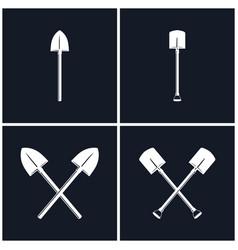 set of digging and pick up shovels vector image