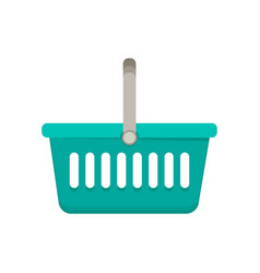 shopping basket flat vector image