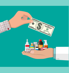 Buying and selling drugs vector