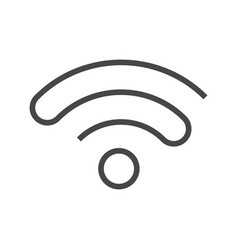 Wi fi thin line icon vector