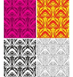 set of seamless vintage backgrounds vector image