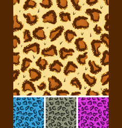 Seamless leopard or cheetah fur background vector