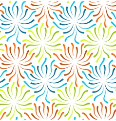 Color flower abstract vector