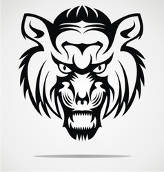 Tiger face tattoo design vector