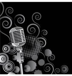 microphone background vector image