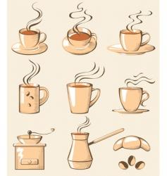 coffee line art vector image