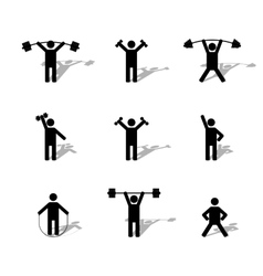 Set athlete silhouettes vector