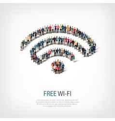 Wi-fi people crowd vector