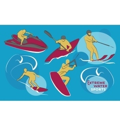 Extreme water sports vector