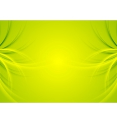 Abstract green shiny waves background vector