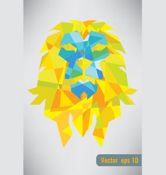 Abstract isolated lion geometric shape vector