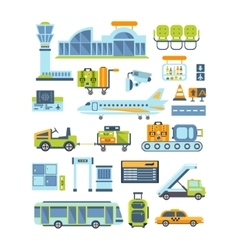 Airport related collection vector