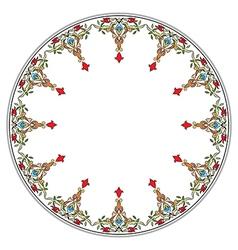 Antique ottoman turkish pattern design thirteen vector
