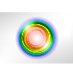 background rainbow light center vector image