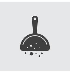 Broom scoop icon vector image