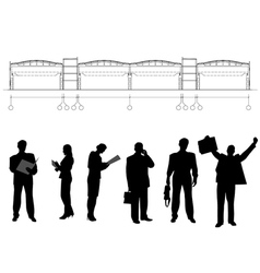 Business persons and drawing vector image vector image