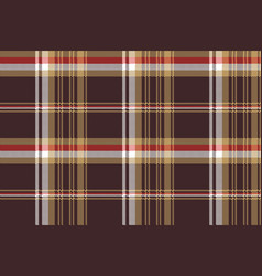 Check brown tartan seamless fabric texture vector