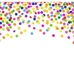 Color confetti frame vector