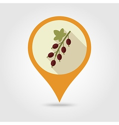 Currant flat pin map icon Berry fruit vector image