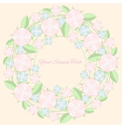 Frame of flower pastel color vector