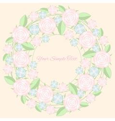 Frame of flower Pastel color vector image vector image
