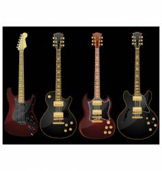 glossy guitars vector image vector image