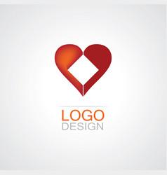 hearth logo vector image