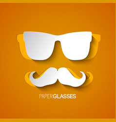 hipster mustache and glasses design vector image vector image