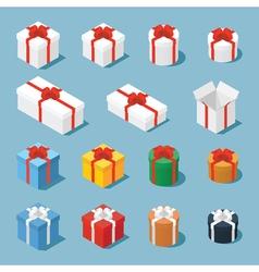 Isometric gift boxe vector