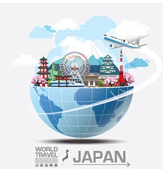 Japan landmark global travel and journey vector