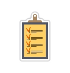 Paper sticker on white background form vector