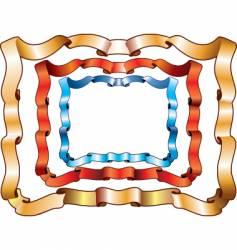 ribbon frames vector image