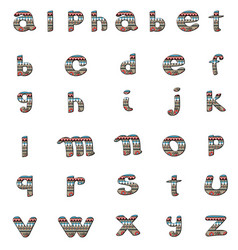 romanian pattern small letters vector image vector image